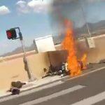 【動画】猛スピードのバイク ヤマハYZF-R6が壁に激突しバイクライダーの足が…