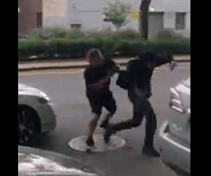 【動画】ピザの配達人と車の運転手がロードレイジで激しい喧嘩