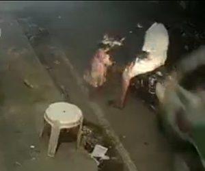 【動画】父親が娘の目の前でトラックに轢かれてしまう衝撃事故映像