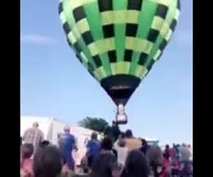 【動画】バルーンフェスティバルで熱気球が観客に突っ込む衝撃映像