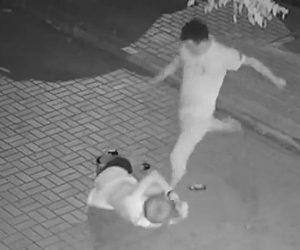 【動画】夜道を歩く女性が男から激しい暴行を受ける恐ろしい衝撃映像