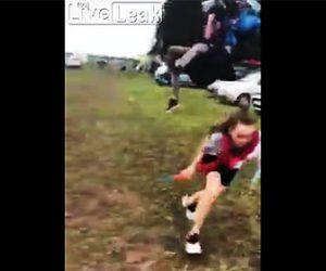 【動画】パラグライダーが着地失敗し車に突っ込んでしまう衝撃映像