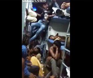 【動画】インドの寝台電車がヤバすぎる。人が重なり合い寝る所がない衝撃映像
