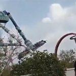 【閲覧注意動画】インドの遊園地で恐ろしい事故。大勢が乗る絶叫アトラクションの支柱が折れ落下。