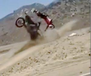 【動画】モトクロスで大ジャンプし過ぎて着地失敗。大クラッシュしてしまう衝撃事故映像