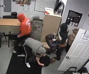 【動画】携帯会社を襲った武装強盗4名が警察に次々逮捕される一部始終映像