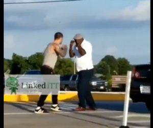 【動画】白人VS黒人 一撃でノックアウトする衝撃映像