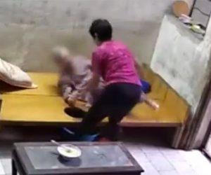 【動画】90歳おばあさんが介護士の女に虐待される衝撃映像