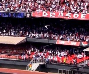 【動画】少年がサッカースタジアム3階席から落下してしまう衝撃映像