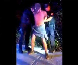 【動画】男が警察官に逮捕され手錠をかけられる瞬間とんでもない事をする衝撃映像