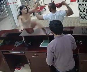【動画】ムキムキの黒人男性が連れの女性と喧嘩するが女性が強すぎる衝撃映像