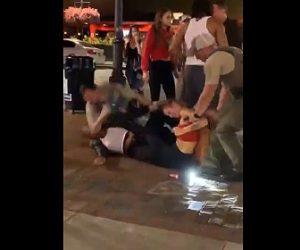 【動画】女性2人が激しい喧嘩。警察官が喧嘩を止めるが女性に強烈な肘打ちを食らわす衝撃映像