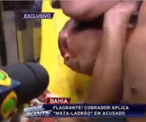 【動画】武装強盗が捕まり羽交い絞めにされながらインタニューを受ける衝撃映像