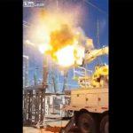 【動画】変電所で作業員がクレーンに乗って作業中、突然大爆発してしまう衝撃映像