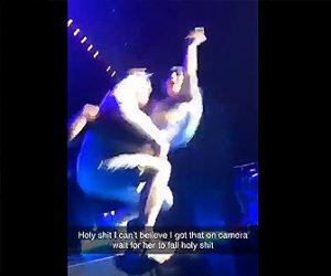 【動画】レディー・ガガが男性客に抱えられステージから転落する衝撃映像