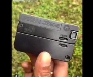 【動画】手のひらに収まる超小型の折り畳み銃が凄い!