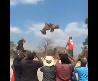 【動画】ガーナの魔術師が大勢の前で空を飛ぶ衝撃映像