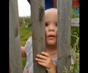 【動画】ロシアの村で撮影された子供が不気味過ぎる衝撃映像