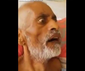 【閲覧注意動画】男性の口の中に大量のウジ虫が…衝撃映像
