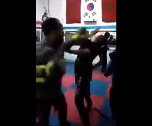 【動画】キックボクシングのジムでトレーナーが女性をボッコボコにしてしまう衝撃映像