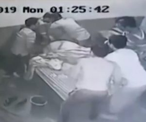 【閲覧注意動画】薬物治療施設で寝ている所長に8人の男達が襲いかかる恐ろしい映像