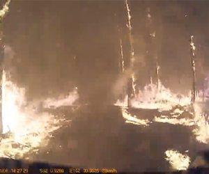 【動画】大規模な森林火災の中を走る消防車の車載カメラ映像が凄い!