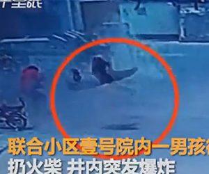 【動画】マンホールにマッチを投げ込んだ男性が吹き飛ばされる衝撃映像
