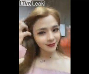 【動画】カメラの前でポーズをとる美女は…