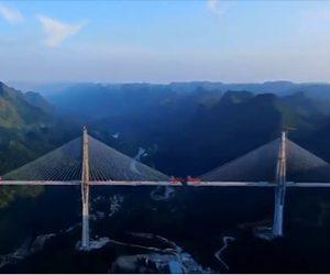 【動画】中国で建設中の高さ328mの橋が凄い!