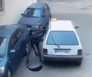 【動画】男がマンホールの横に車を停めてマンホールを持ち去ってしまう衝撃映像