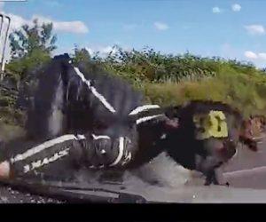 【動画】左折する車に後ろから直進するバイクが突っ込んでしまう