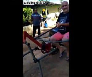【動画】ブラジル人が作った機械の馬車が凄い!