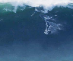 【動画】高さ18mの大波に乗る男性が凄すぎる衝撃映像