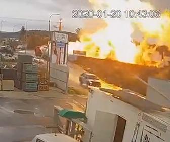 【動画】イスラエルの工場地帯でガス爆発。巨大な炎で作業員が負傷してしまう