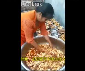 【動画】中国の食品衛生管理がヤバすぎる衝撃映像