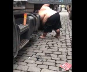 【動画】巨漢男性の爪の切り方が凄い