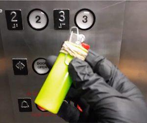 【動画】新型コロナウィルス対策。エレベーターのボタンを押す方法が凄い