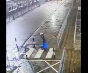 【動画】ジョギングしている男性が道に張ってある鎖が見えず突っ込んでしまう衝撃映像