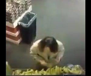【動画】女が商品のバナナに唾を吐きコロナを広めようとする衝撃映像