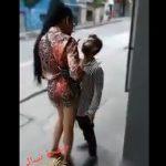 【動画】小男VS大女 言い争いから激し殴り合いになる衝撃映像