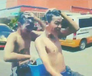 【動画】2人乗りでバイクに乗りながらシャンプーをする少年達がヤバい