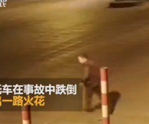 【動画】道を渡ろうとするおじいさんが猛スピードのバイクに撥ね飛ばされてしまう
