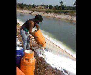 【動画】ロックダウンで売れなくなった大量の牛乳を川に捨てる衝撃映像