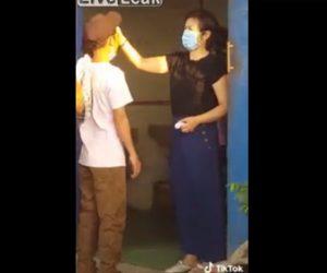 【動画】女性がおでこに手を当てて新型コロナチェックをする衝撃映像