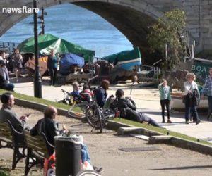 【動画】イギリスで外出禁止を無視しマスクもせずピクニックを楽しむロンドン市民がヤバい