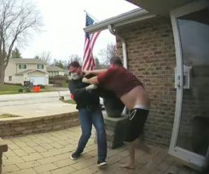 【動画】マスクをした武装強盗2人が家に侵入 家主と強盗の激しい戦い