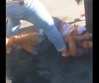 【ロードレイジ】女性達が駐車場で激しい殴り合い。車で相手の車に突っ込むが…