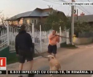 【暴行】ロックダウン中に犬の散歩をする男性に怒り、長い棒で殴りかかってくる男がヤバい