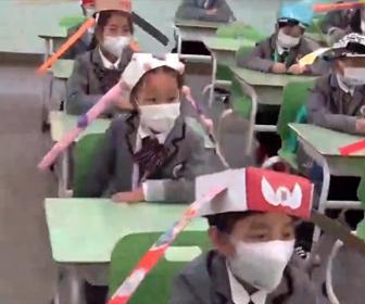 【衝撃】中国の小学生。学校での新型コロナウイルス対策が凄い