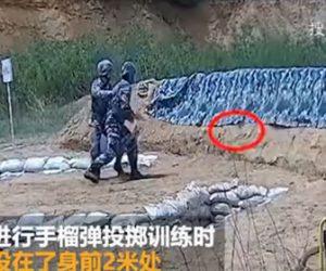 【面白】手榴弾を投げる訓練で新米兵士が失敗し…